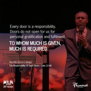 The Responsibility Of Open Doors